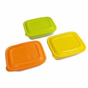 【タケヤ化学工業】プラスチック 保存容器 カラフルライトパック 500ml 3個組