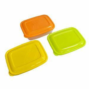 【タケヤ化学工業】プラスチック 保存容器 カラフルライトパック 800ml 3個組