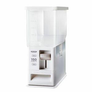 【アスベル】計量米びつ 6kg型 洗える米びつ ホワイト ( ライスストッカー 5kg )