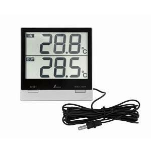 デジタル温度計 SmartC 最高・最低 室内・室外防水外部センサー 73118