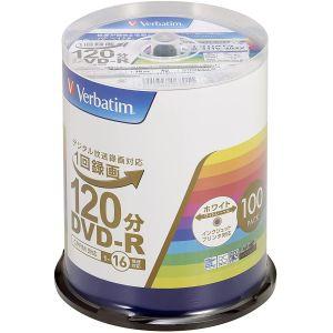 【三菱 Verbatim】VHR12JP100V4 DVD-R DVDR CPRM対応 16倍速100枚