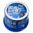 【ハイディスク HI DISC】【本サイト限定特価】VVVBR25JP50 BD-R BDR 25GB 6倍速50枚 耐久力 ハードコート仕様