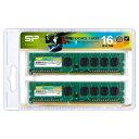 【Silicon Power(シリコンパワー)】【デスクトップ用】【DDR3-1600 PC3-12800】【8GBx2枚】SP016GBLTU160N22DA