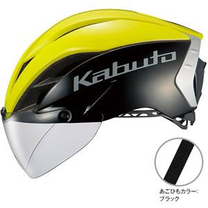 送料無料!!【OGK KABUTO オージーケーカブト】AERO-R1 ブラックイエロー-7 L/XL 自転車 ヘルメット【smtb-u】