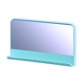 【不動技研】壁掛け 鏡 キルティ ミラー アクア D3.5×W15.3×H12.1cm F2602