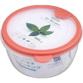 【岩崎工業 IWASAKI】岩崎工業 保存容器 エアキーパー どんぶり オレンジ A-038 SO