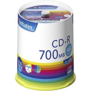 【三菱 Verbatim】SR80FP100V1E CD-R CDR 700MB 48倍速 100枚組