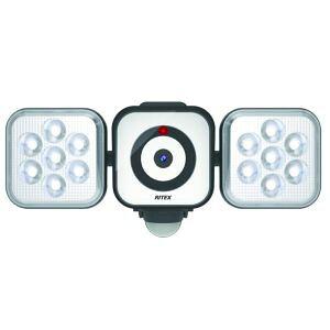 【ムサシ musashi】ライテックス C-AC8160 LEDセンサライトX防犯カメラ 8W×2灯 RITEX