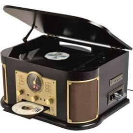送料無料!!【山善 YAMAZEN キュリオム】山善 MRP-M100CR マルチレコードプレーヤー CD レコード カセットテープ【smtb-u】