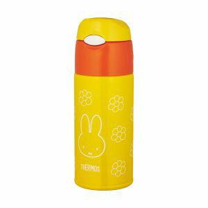 【サーモス THERMOS】水筒 真空断熱ストローボトル 400ml ミッフィー イエローフラワー(YF) FHL-401FB