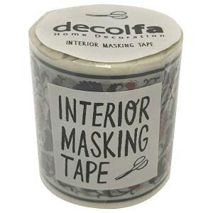 【ニトムズ Nitto】ニトムズ M3616 デコルファ インテリアマスキングテープ フラワー/レッド 50mm×8m
