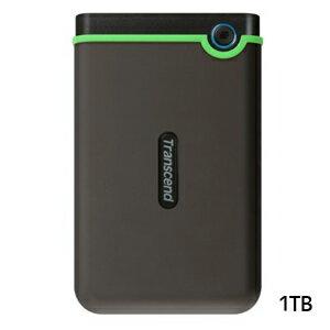 【トランセンド Transcend】USB3.1 Gen 1 2.5インチ ポータブルHDD 耐衝撃 1TB TS1TSJ25M3S