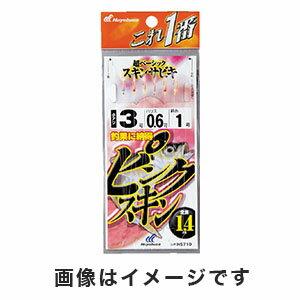 【ハヤブサ Hayabusa】これ一番 ピンクスキンサビキ 6本鈎 3号 (ハリス 0.6) HS710