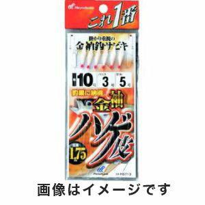 【ハヤブサ Hayabusa】これ一番 金袖針ハゲ皮6本鈎 8号 (ハリス 2) HS713