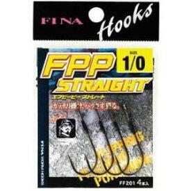 【ハヤブサ Hayabusa】フィナ(FINA) FPP STRAIGHT 1/0 (鈎 4個入り) FF201
