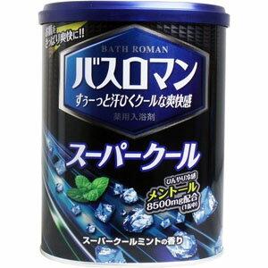 【アース製薬 EARTH】バスロマン スーパークール ミントの香り 850g 入浴剤