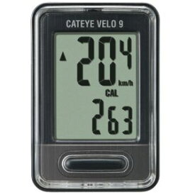 【キャットアイ CATEYE】キャットアイ CATEYE サイクルコンピュータ VELO 9 ベロ9 ブラック CC-VL820