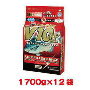 【マルキユー マルキュー】マルキユー マルキュー グレパワーV10(ブイテン)スペシャル 1700g ×12袋 1ケース メジナ グレ