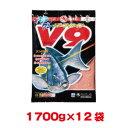 【マルキユー マルキュー】マルキユー マルキュー グレパワーV9(ブイナイン) 1700g ×12袋 【1ケース】 メジナ グレ
