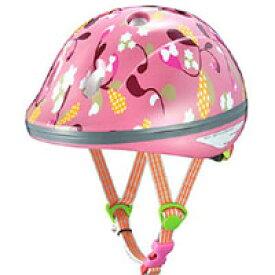 【オージーケーカブト OGK Kabuto】PeachKids ピーチキッズ 自転車ヘルメット子供用 リーフピンク サイズ:47〜51cm