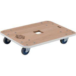 木製平台車 ジュピター 600×450 φ75 200kg JUP-6045-200