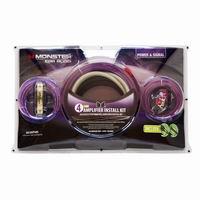 【モンスターケーブル Monster Cable】パワーアンプ接続キット(4ゲージ RCA・SPケーブル入り) MCA BAIP500S