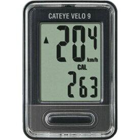 【キャットアイ CATEYE】キャットアイ CC-VL820 ベロ9 ブラック VELO 9 CC-VL820 サイクルコンピュータ