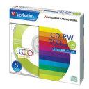 【三菱 Verbatim】SW80QM5V1 (CD-RW 4倍速5枚)