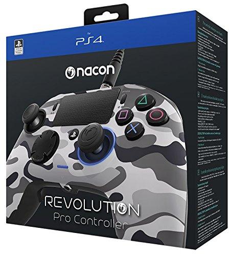 【送料無料】Nacon Gaming Revolution Pro Controller Sony Official Licensed PS4 - ナコン ゲーミング レボリューション プロ コントローラー ソニー オフィシャル ライセンス PS4 グレイ カモ Grey Camo