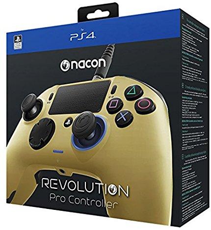 【送料無料】Nacon Gaming Revolution Pro Controller Sony Official Licensed PS4 - ナコン ゲーミング レボリューション プロ コントローラー ソニー オフィシャル ライセンス PS4 ゴールド Gold
