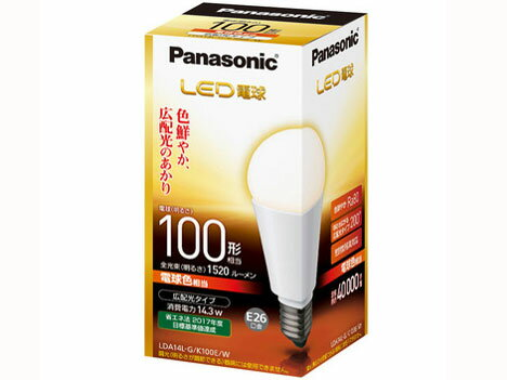 Panasonic LED電球(一般電球形・口金E26・一般電球100W形相当)   LDA14LGK100EW [電球色]