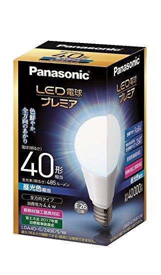 Panasonic LED電球(一般電球形・口金E26・一般電球40W形相当)   LDA4DGZ40ESW [昼光色]