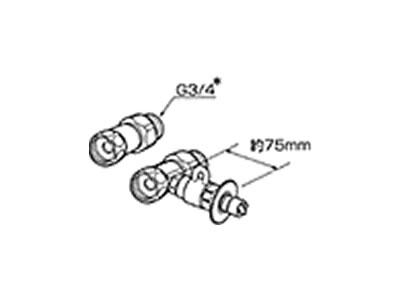食器洗い機設置用 分岐水栓 CB-S268A6 【送料無料】【KK9N0D18P】