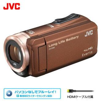 维克托摄像机艾部里约热内卢32GB JVC GZ-F100-T棕色