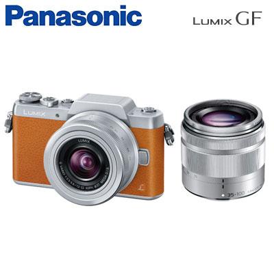 【即納】パナソニック ミラーレス一眼カメラ LUMIX ダブルズームレンズキット DMC-GF7W-T ブラウン 【送料無料】【KK9N0D18P】