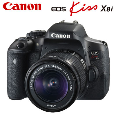 【即納】キヤノン デジタル一眼レフカメラ EOS Kiss X8i EF-S18-55 IS STM レンズキット EOSKiss-X8i-18-55LK 【送料無料】【KK9N0D18P】