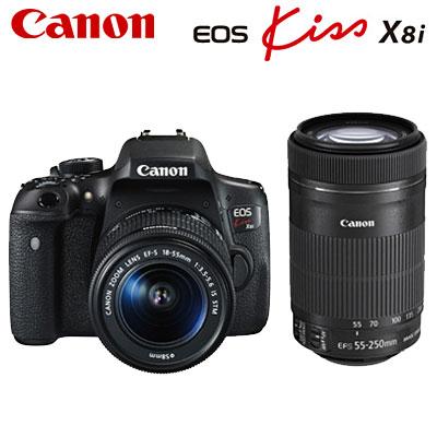 キヤノン デジタル一眼レフカメラ EOS Kiss X8i ダブルズームキット EOSKiss-X8i-WKIT 【送料無料】【KK9N0D18P】