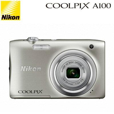 【即納】ニコン コンパクトデジタルカメラ COOLPIX A100 COOLPIX-A100-SL シルバー コンデジ 【送料無料】【KK9N0D18P】