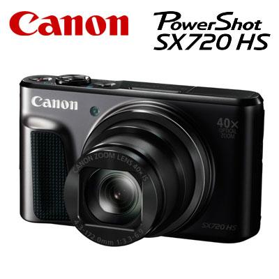 【即納】CANON コンパクトデジタルカメラ PowerShot SX720 HS パワーショット PSSX720HS-BK ブラック 【送料無料】【KK9N0D18P】