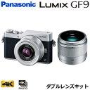 パナソニック ミラーレス一眼カメラ ルミックス LUMIX Gシリーズ DC-GF9 ダブルレンズキット DC-GF9W-S シルバー【送…