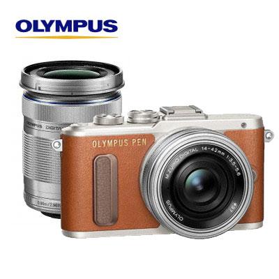 OLYMPUS ミラーレス一眼カメラ PEN E-PL8 EZ ダブルズームキット オリンパス E-PL8-EZ-WZ-T ブラウン 【送料無料】【KK9N0D18P】