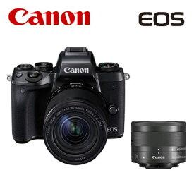 CANON ミラーレスカメラ EOS M5 クリエイティブマクロ ダブルレンズキット キヤノン EOSM5-CMWLK 【送料無料】【KK9N0D18P】