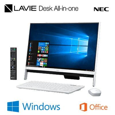 【即納】NEC 23.8型ワイド デスクトップパソコン LAVIE Desk ALL-in-one DA370/GA PC-DA370GAW ファインホワイト 2017年春モデル 【送料無料】【KK9N0D18P】