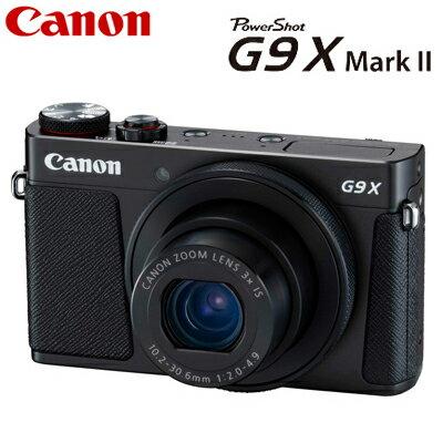 キヤノン コンパクトデジタルカメラ PowerShot G9 X Mark II パワーショット デジカメ コンデジ PSG9X-MARKII-BK ブラック 1717C004 【送料無料】【KK9N0D18P】