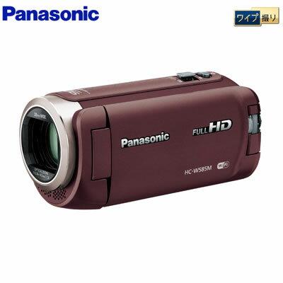パナソニック デジタルビデオカメラ 64GB フルハイビジョン ワイプ撮り 軽量モデル HC-W585M-T ブラウン 【送料無料】【KK9N0D18P】