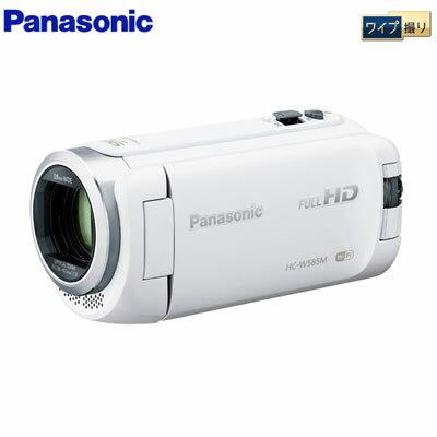 パナソニック デジタルビデオカメラ 64GB フルハイビジョン ワイプ撮り 軽量モデル HC-W585M-W ホワイト 【送料無料】【KK9N0D18P】