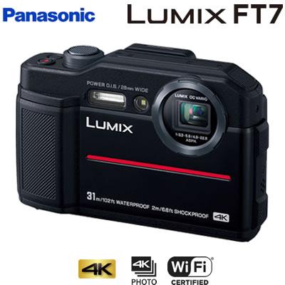 パナソニック デジタルカメラ コンパクトカメラ ルミックス LUMIX FT7 DC-FT7-K ブラック【送料無料】【KK9N0D18P】