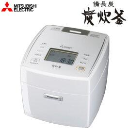 三菱電機5.5合炊きIHジャー炊飯器備長炭炭炊釜NJ-VE109-Wピュアホワイト
