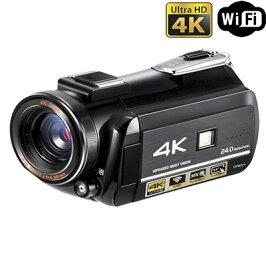 4Kデジタルビデオカメラタッチパネル液晶搭載ナイトビジョンカメラ業務用広角/マクロレンズ付PRO4KCOMエスシーエス