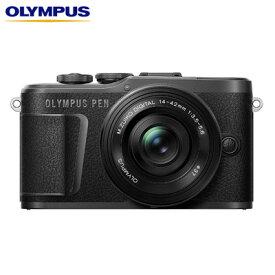 【キャッシュレス5%還元店】オリンパス ミラーレス一眼カメラ OLYMPUS PEN E-PL10 14-42mm EZ レンズキット E-PL10-EZLK-BK ブラック【送料無料】【KK9N0D18P】